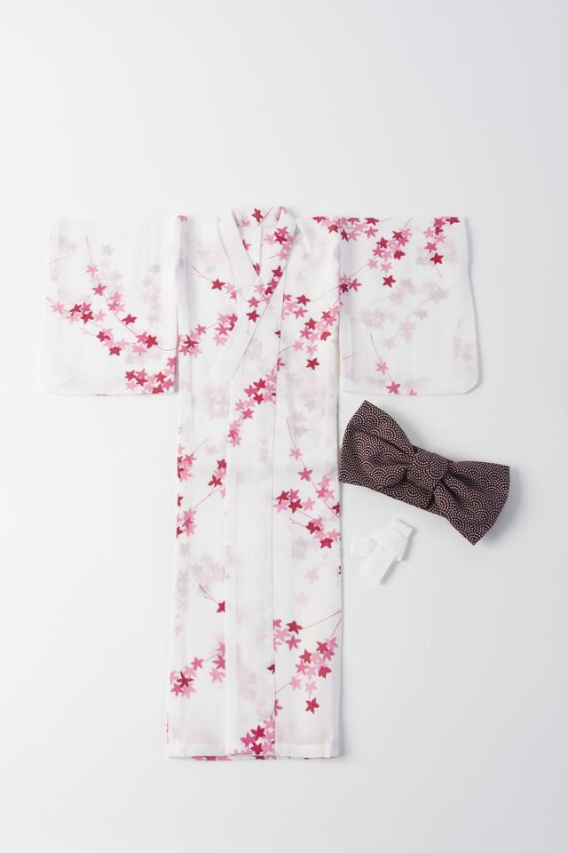 【ミニチュア浴衣】アンティーク浴衣のファンシーリメイク(スーパードルフィーサイズ)ふるやのりこ作